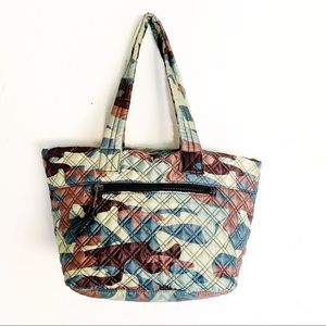 Sondra Roberts Quilted Tote Squared Nylon